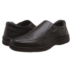 Hush Puppies Taylor Slip On Leather Shoes Black